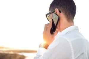 a man making a presentation phone call