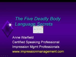 The Five Deadly Body Language Secrets