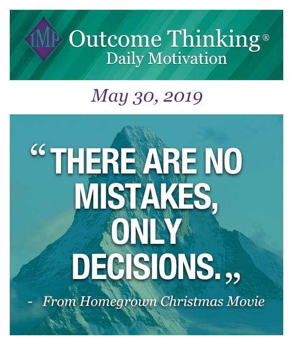 There are no mistakes, only decisions. From Homegrown Christmas Movie
