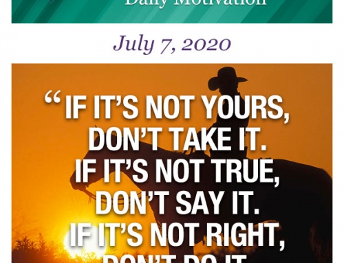 Outcome Thinking Daily Motivation | July 7, 2020