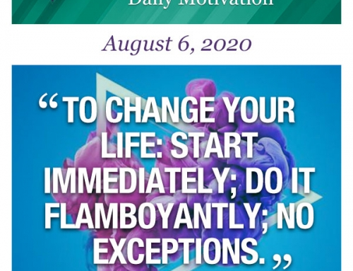 Outcome Thinking Daily Motivation | August 6, 2020