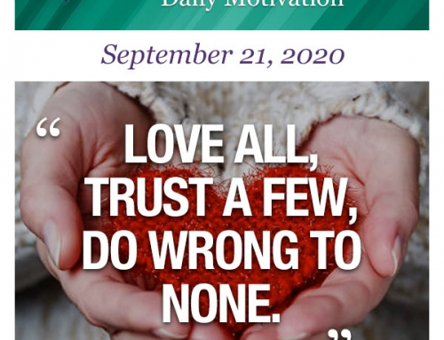Outcome Thinking Daily Motivation | September 21, 2020