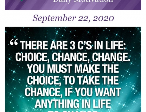 Outcome Thinking Daily Motivation | September 22, 2020