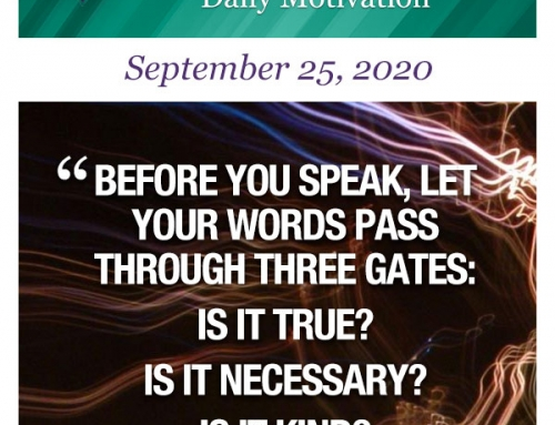 Outcome Thinking Daily Motivation | September 25, 2020