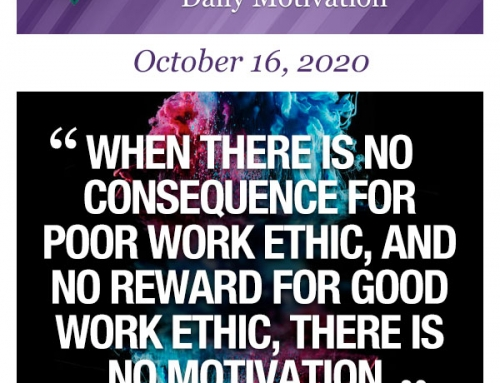 Outcome Thinking Daily Motivation | October 16, 2020