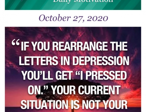 Outcome Thinking Daily Motivation | October 27, 2020