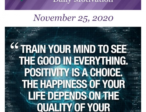 Outcome Thinking Daily Motivation | November 25, 2020