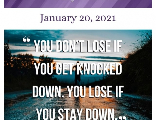 Outcome Thinking Daily Motivation | January 20, 2021