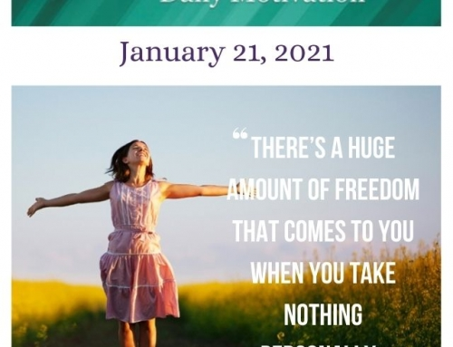 Outcome Thinking Daily Motivation | January 21, 2021