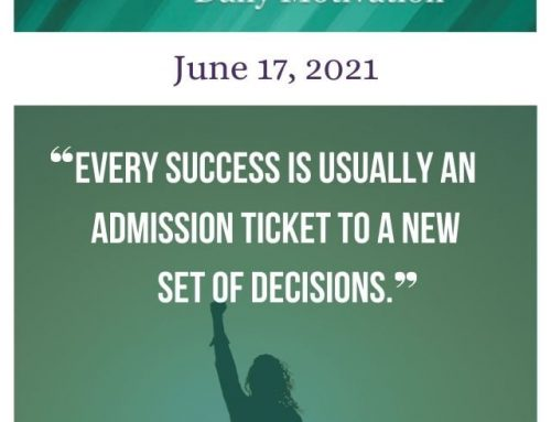 Outcome Thinking Daily Motivation | June 17, 2021