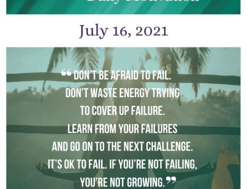 Outcome Thinking Daily Motivation | July 16, 2021