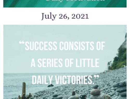 Outcome Thinking Daily Motivation | July 26, 2021