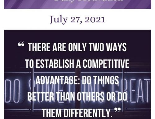 Outcome Thinking Daily Motivation | July 27, 2021